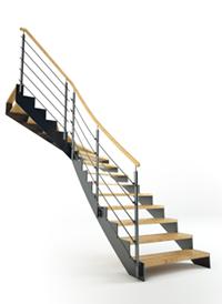 treppen aus holz metall f r den innenbereich au enbereich. Black Bedroom Furniture Sets. Home Design Ideas